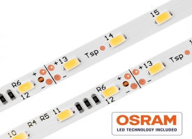 24V LED Streifen OSRAM Duris E5 5630 / 300 LED / 2700 - 6000 Kelvin / CRI>80