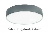 Aufputz Deckenleuchte PLAFO 430 LED mit 34 Watt Beleuchtung direkt/Indirekt