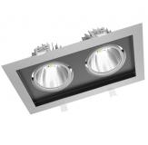Verstellbare LED Einbauleuchte - DUO SLM optional in 40 Watt oder 64 Watt