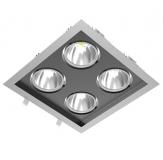 Verstellbare LED Einbauleuchte - QUATTRO SLM - mit 80 oder 128 Watt