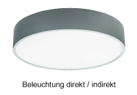 Aufputz Deckenleuchte PLAFON 500 LED mit 40 Watt - Licht direkt/Indirekt