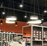 LED Pendelleuchte PLAFO 430 LED SR mit 32 Watt in 3000 Kelvin + 4000 Kelvin