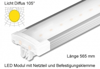 Schienen Linear LED Leuchte 565 mm Länge Lichtverteilung Diffus 105°