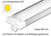 Schienen Linear LED Leuchte 565 mm Lichtverteilung Breitstrahlend 95°