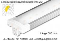 Schienen Linear LED Leuchte 565 mm Lichtv. Einseitig asymmetrisch links