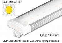 Schienen Linear LED Leuchte 1466 mm Länge Lichtverteilung Diffus 105°