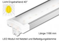 Schienen Linear LED Leuchte 1166 mm Lichtverteilung Engstrahlend 40°