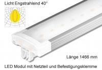 Schienen Linear LED Leuchte 1466 mm Lichtverteilung Engstrahlend 40°