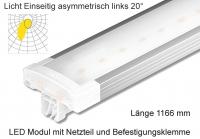 Schienen Linear LED Leuchte 1166 mm Lichtv. Einseitig asymmetrisch links