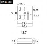 CASAMBI Lichtsteuerung Bluetooth 230V Dimmer Einbaugehäuse