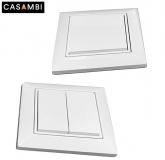 Batterieloser Bluetooth Wandschalter als 1 und 2 Taster für CASAMBI