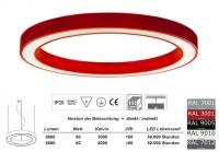 SATURN 900 LED Pendelleuchte in allen RAL Farben / Licht direkt