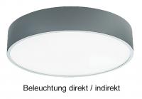 Aufputz Deckenleuchte PLAFON 900 LED mit 76 Watt Licht direkt/indirekt